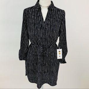 Dresses & Skirts - Cute Black & White Stripe Fit & Flare Dress